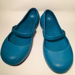 cd0bf2c1a9 CROCS Women Alice Work Shoe 8W Blue